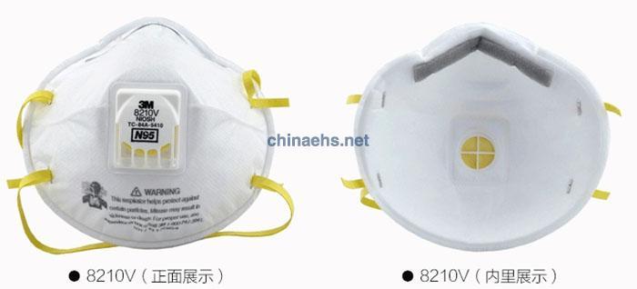 3M8210V N95带呼吸阀防尘口罩 细节