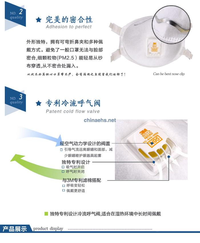 3M 8512 N95焊接用防护口罩