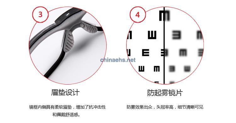 3M 11394 防雾舒适型防护眼镜