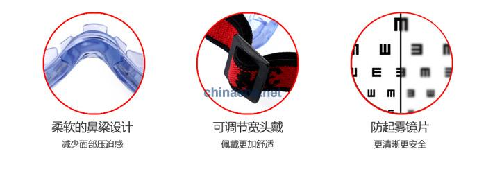 3M 1623AF 亚洲款舒适型防化学防雾护目镜(无色镜片,防雾)